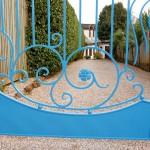 blue gate detail