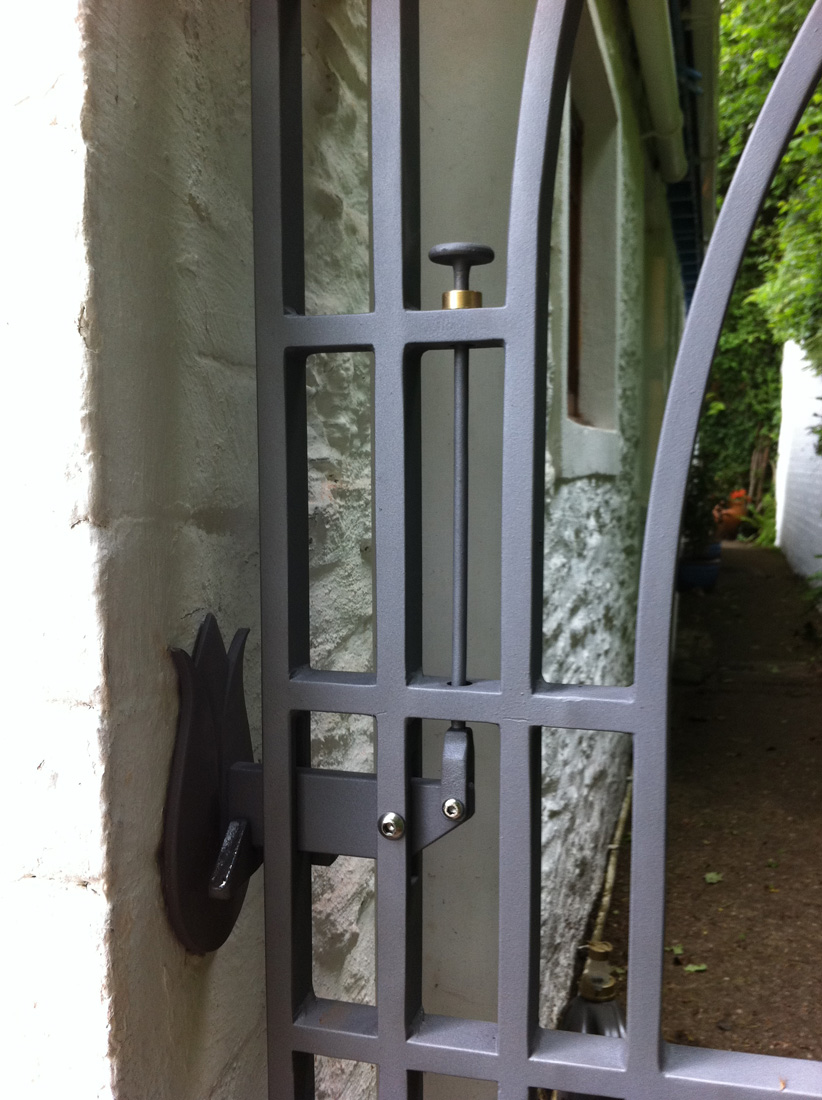 Macintosh inspired garden gate