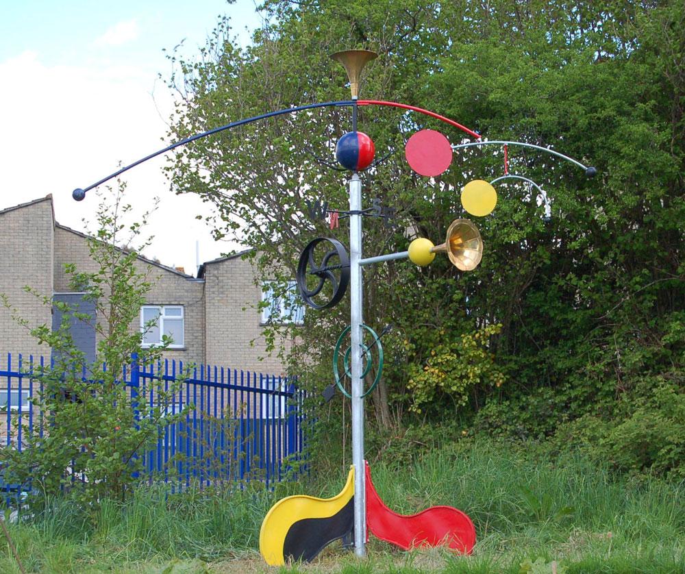Miro inspired school sculpture