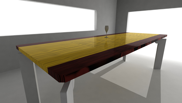 Dining table concept design