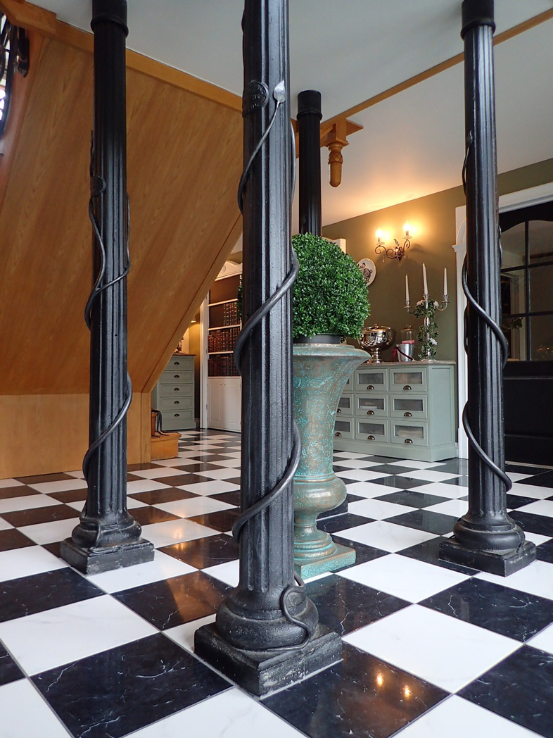 art nouveau forged steel staircase