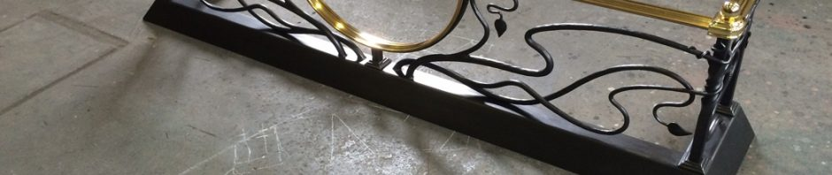 Forged Art Nouveau Style Fire Surround
