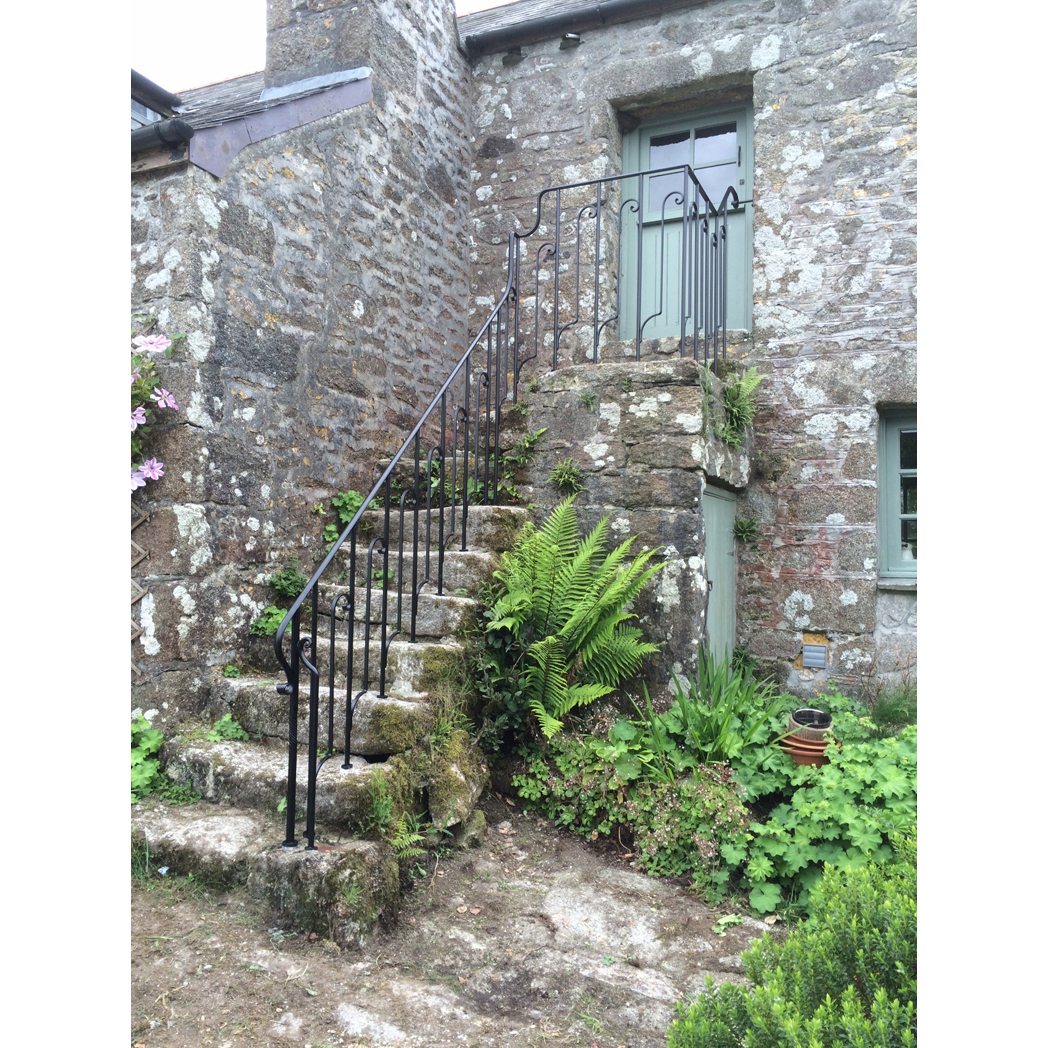 forged balustrade for granite steps