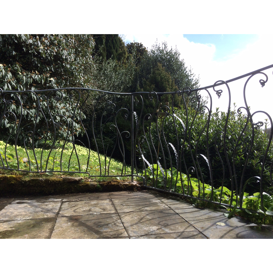 forged organic style steel railings