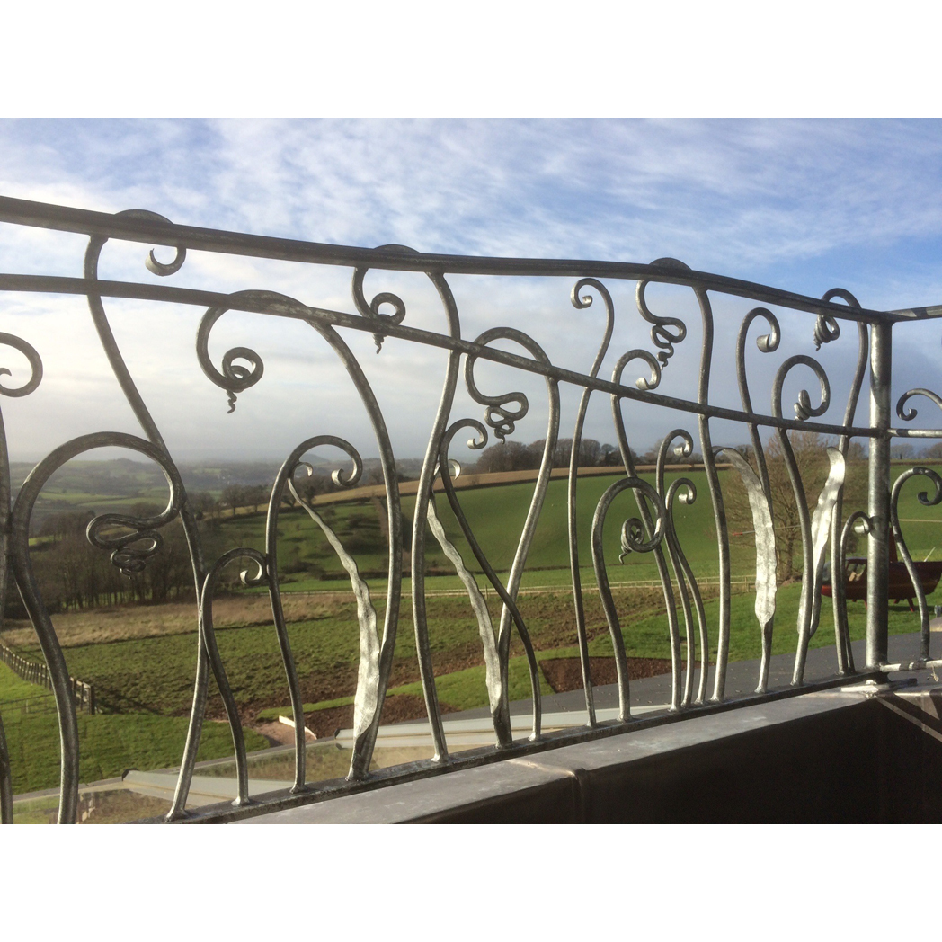 forged steel balcony railing