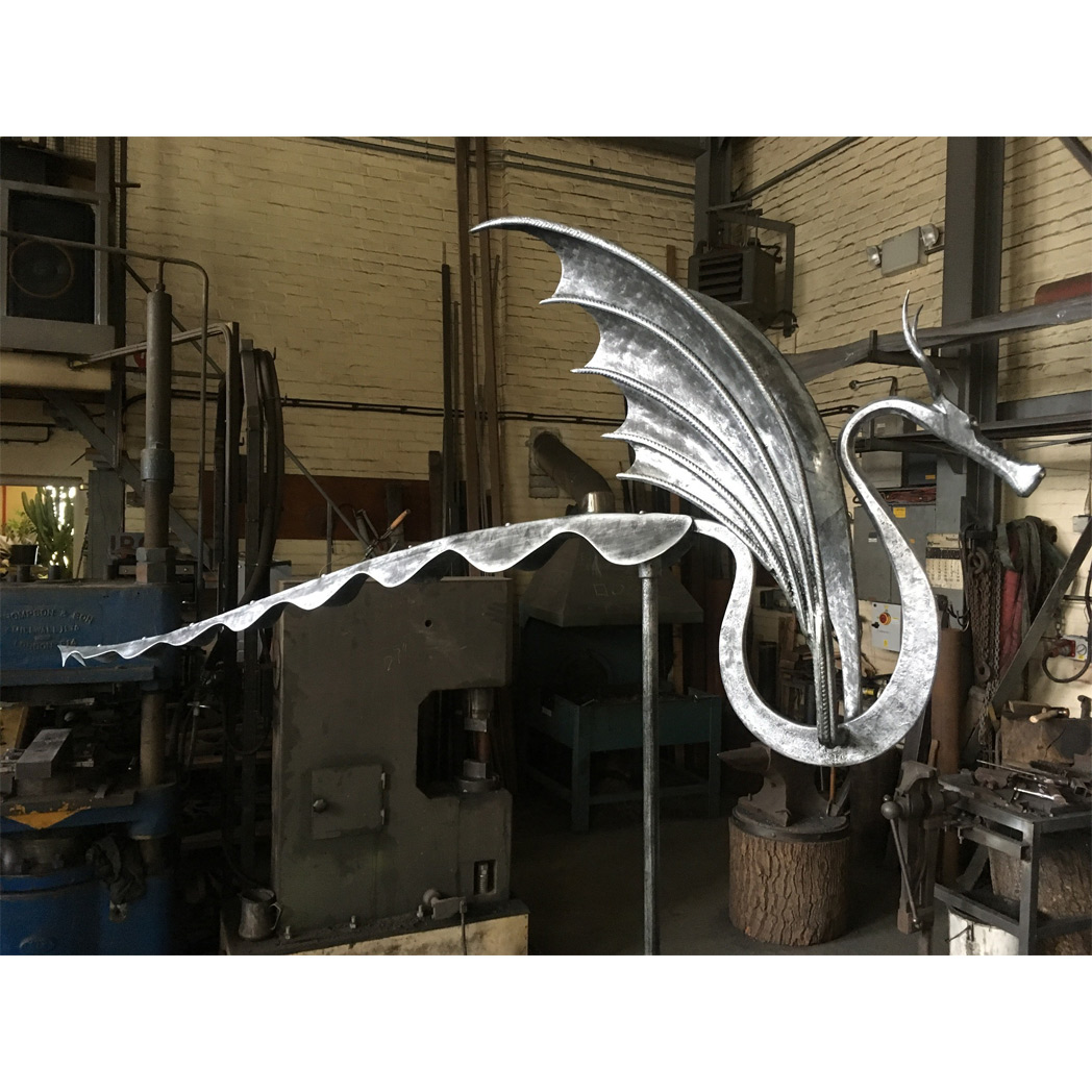 forged dragon wind vane