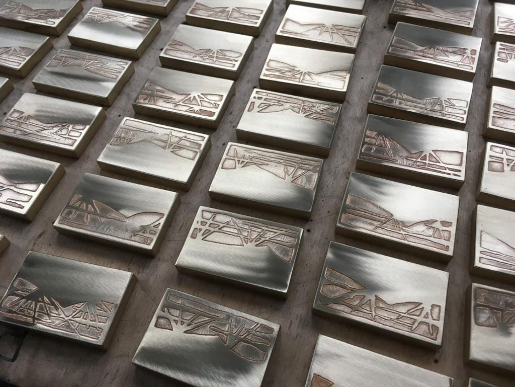 acid etched brass cabinet handles