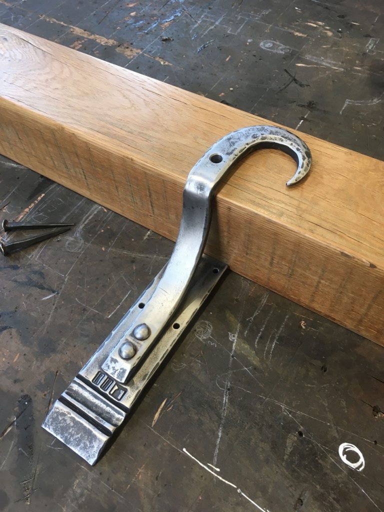 mantlepiece forged steel brackets