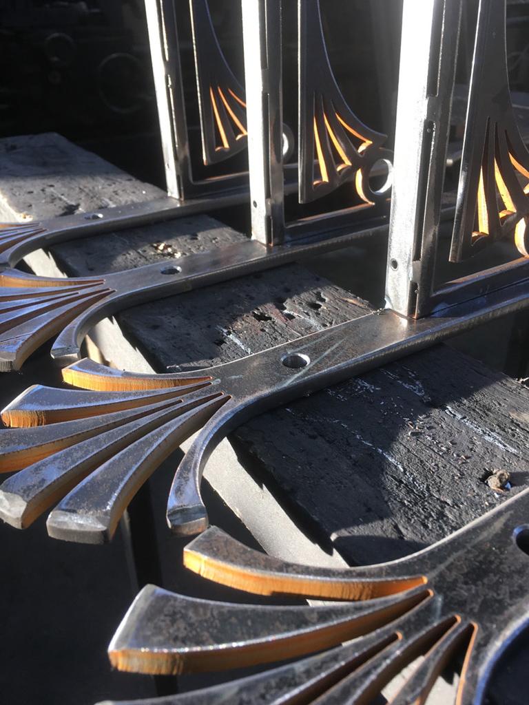 Art Deco Steel Shelf Brackets