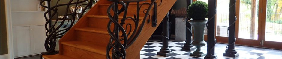 Forged Art Nouveau Staircase