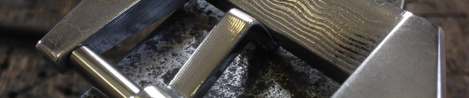 damascus belt buckle
